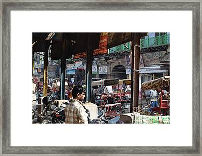 Day At Old Delhi Framed Print by Sumit Mehndiratta