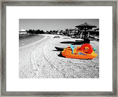 Day At The Beach Framed Print by Graham Taylor