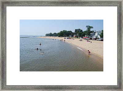Day At The Beach Framed Print by Jennifer Lauren
