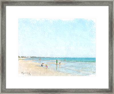 Day At The Beach Framed Print by Mariarosa Rockefeller