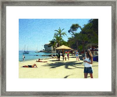 Day At The Beach Framed Print by Snake Jagger