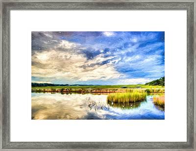 Day At The Marsh Framed Print