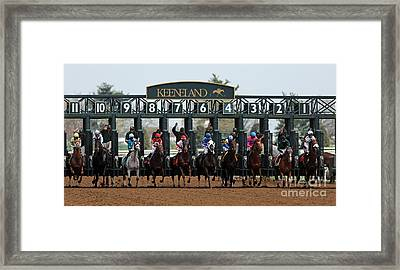Keeneland Race Day Framed Print by Angela G