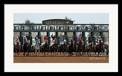 Keeneland Race Track Framed Prints