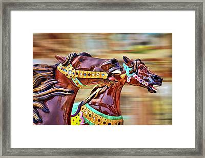 Day At The Races Framed Print