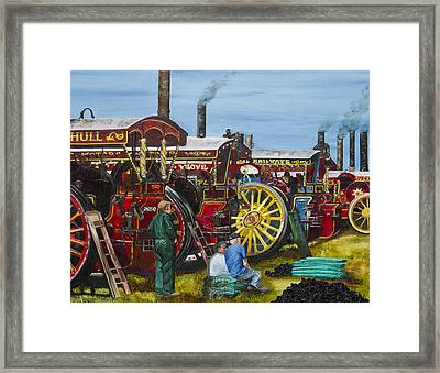 Day At The Steam Up Framed Print by Deborah Jesse