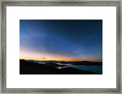 Day Becomes Night Framed Print by Tor-Ivar Naess