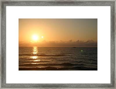 Day Break Framed Print by Dennis Curry