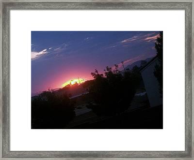 Day Break Framed Print by Jacqueline Lewis