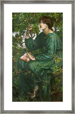 Day Dream Framed Print by Dante Charles Gabriel Rossetti
