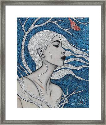Framed Print featuring the mixed media Day Dreamer by Natalie Briney