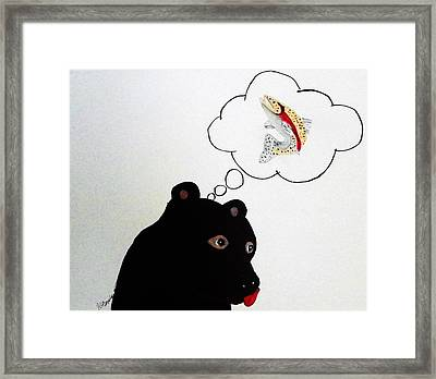 Day Dreaming Of Lunch Framed Print