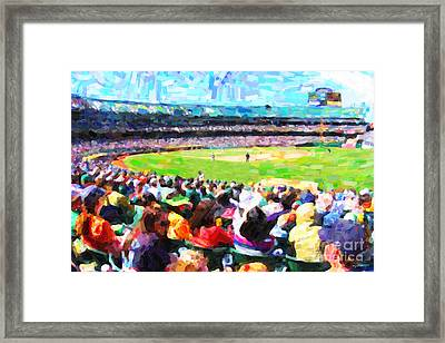 Day Game At The Old Ballpark Framed Print by Wingsdomain Art and Photography