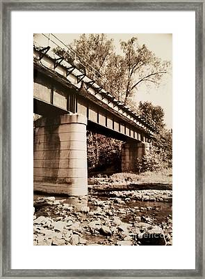 Day Hike Along The Old Railroad Tracks Framed Print