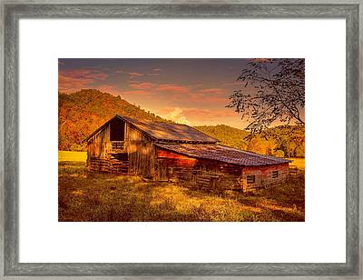 Day Is Done Framed Print by Lorraine Baum