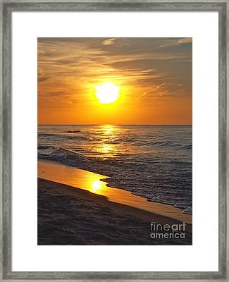Day Is Done Framed Print by Pamela Clements