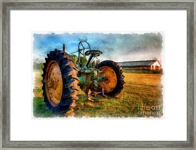 Day Is Done Watercolor Framed Print by Edward Fielding