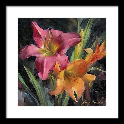 Pink Lily Framed Prints