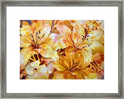 Day-lilies Framed Print by Nancy Newman