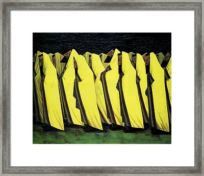 Day Of Atonement Framed Print by Jacob Kramer