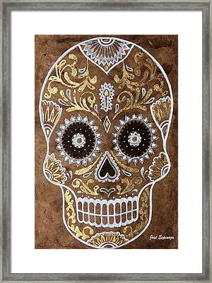 Framed Print featuring the painting Day Of Death by J- J- Espinoza
