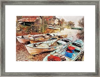 Day Of Fishing Over Framed Print