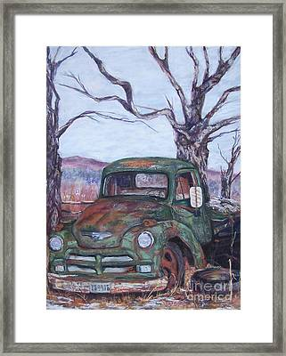 Day Of Rest - Old Friend Iv Framed Print by Alicia Drakiotes