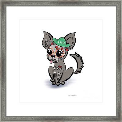 Day Of The Dead Chihuahua Framed Print