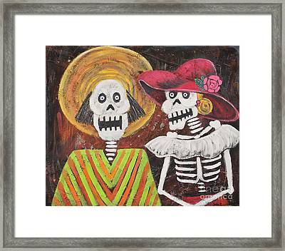 Day Of The Dead Couple Framed Print by Sonia Flores Ruiz