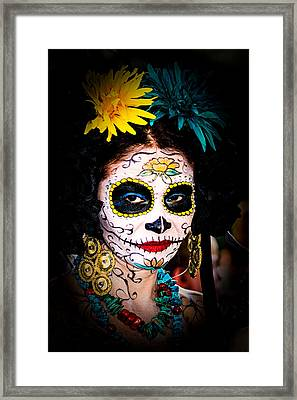 Day Of The Dead Eyes Framed Print