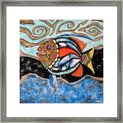 Day Of The Dead Fish Framed Print by Rain Ririn