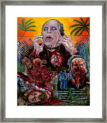 Day Of The Dead Framed Print by Jose Mendez