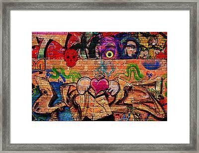 Day Of The Dead Street Graffiti Framed Print