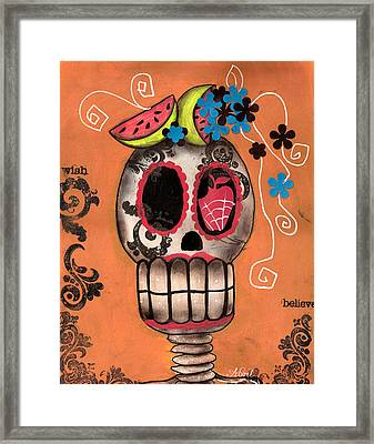Day Of The Dead Watermelon Framed Print