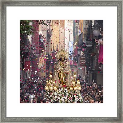Day Of The Virgen De Los Desamparados Framed Print