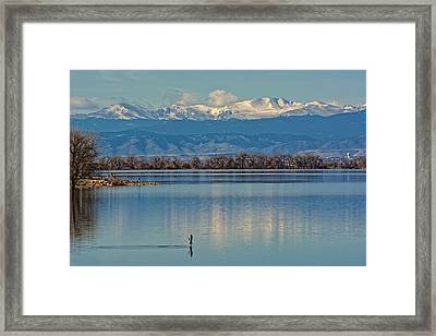 Day On The Lake Framed Print
