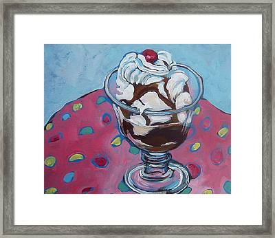 Day Two Sundae Framed Print by Tilly Strauss