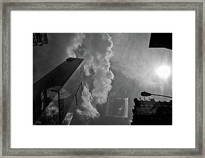Day View With Clouds Framed Print