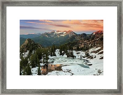 Daybreak Above Silver Lake. Framed Print