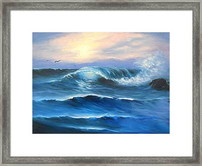 Daybreak At Sea Framed Print