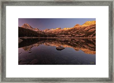 Framed Print featuring the photograph Daybreak At South Lake by Stuart Gordon
