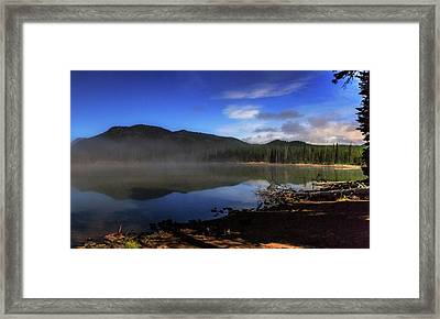 Framed Print featuring the photograph Daybreak At Sparks Lake by Cat Connor