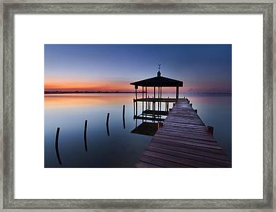 Daybreak Framed Print by Debra and Dave Vanderlaan