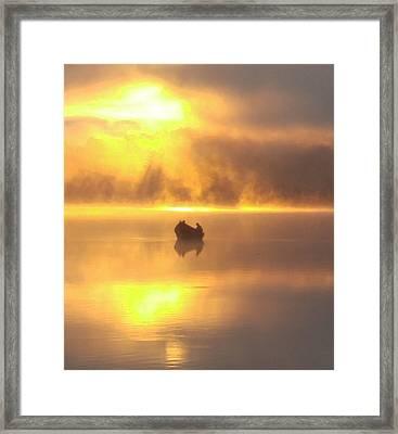 Daybreak Fishermen Framed Print