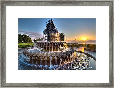 Daybreak In Charleston Framed Print