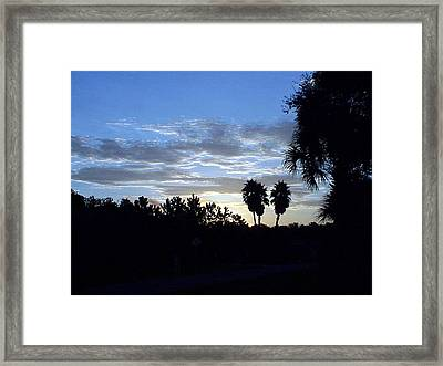 Framed Print featuring the photograph Daybreak In Florida by Frederic Kohli