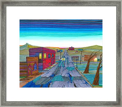 Daybreak In Mckenzie County Framed Print