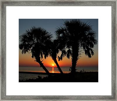 Framed Print featuring the photograph Daybreak by Judy Vincent