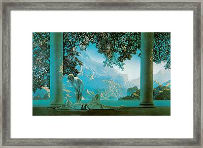 Daybreak Framed Print by Maxfield Parish