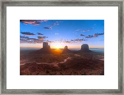 Daybreak Monument Valley Framed Print